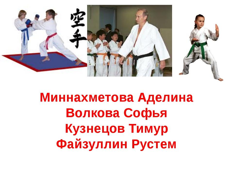 Миннахметова Аделина Волкова Софья Кузнецов Тимур Файзуллин Рустем