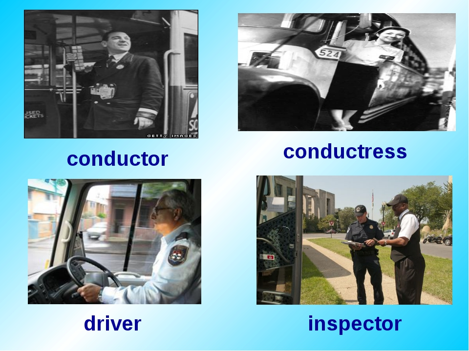 conductor conductress driver inspector