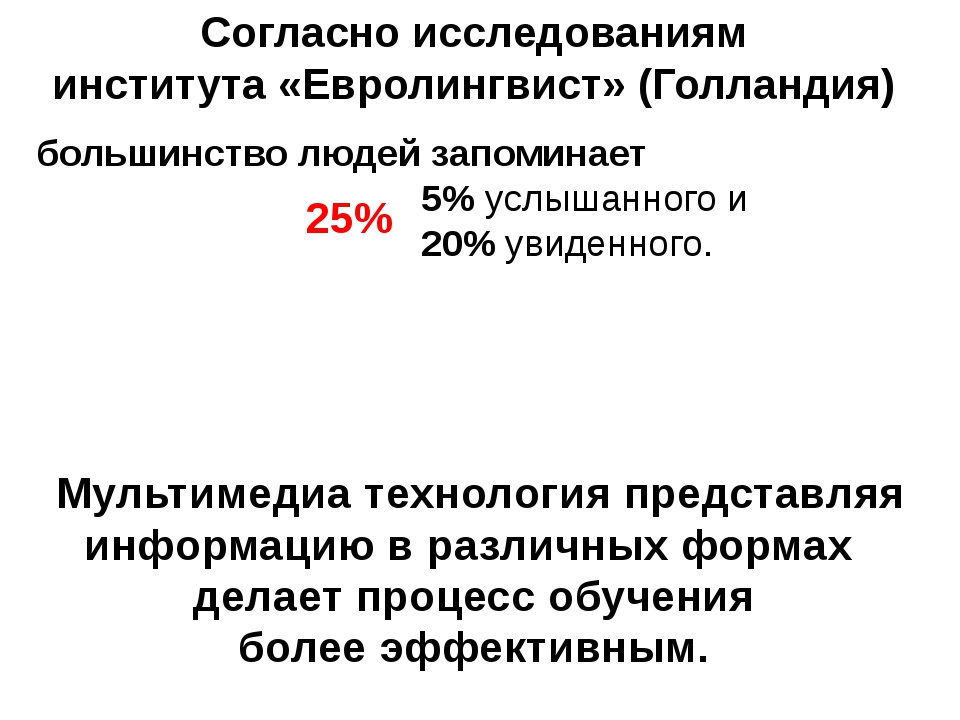 Согласно исследованиям института «Евролингвист» (Голландия) большинство людей...