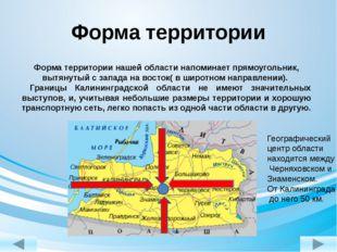 Форма территории нашей области напоминает прямоугольник, вытянутый с запада н