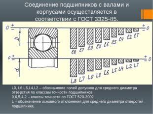 Соединение подшипников с валами и корпусами осуществляется в соответствии с Г