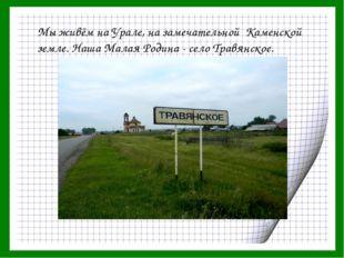 Мы живём на Урале, на замечательной Каменской земле. Наша Малая Родина - село