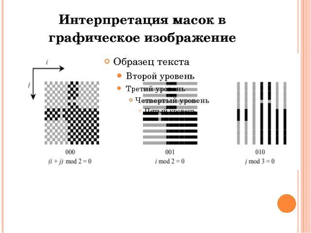 Интерпретация масок в графическое изображение