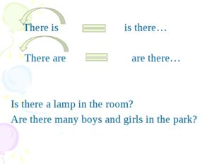 There is is there… There are are there… Is there a lamp in the room? Are the