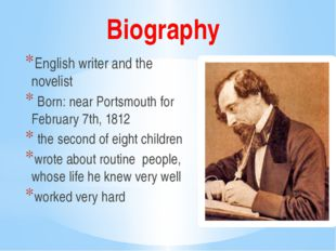 Biography English writer and the novelist Born: near Portsmouth for February
