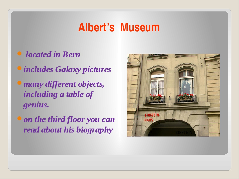 Albert's Museum located in Bern includes Galaxy pictures many different objec...
