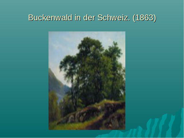 Buckenwald in der Schweiz. (1863)