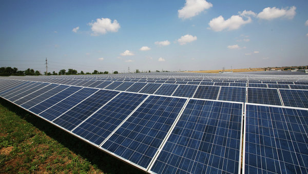 Солнечная электростанция в Крыму