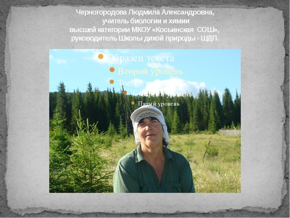Черногородова Людмила Александровна, учитель биологии и химии высшей категори...