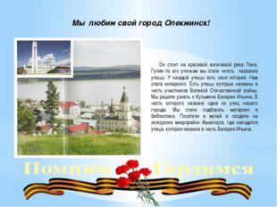 Мы любим свой город Олекминск! Он стоит на красивой величавой реке Лена. Гуля