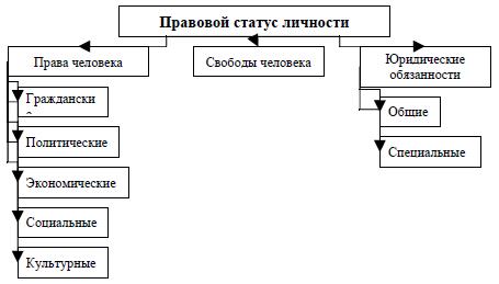 Рис. 1. Правовой статус личности