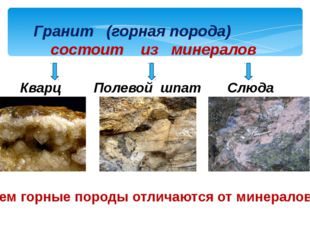 Гранит (горная порода) состоит из минералов Кварц Полевой шпат Слюда Чем горн