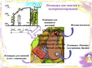 Площадка для занятий (стол с лавочками) Площадка «Пикник» (костровище, бревно
