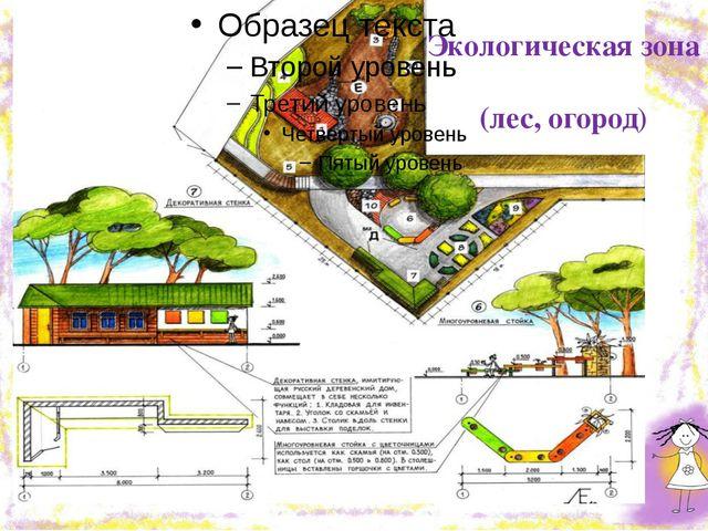 Экологическая зона (лес, огород)