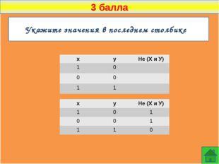 3 балла Какое логическое выражение эквивалентно выражению ¬(¬A  ¬B)  C ?