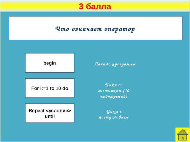 1 балл Назовите, какую логическую формулу означает каждый символ → ˄ ˅ Импли...