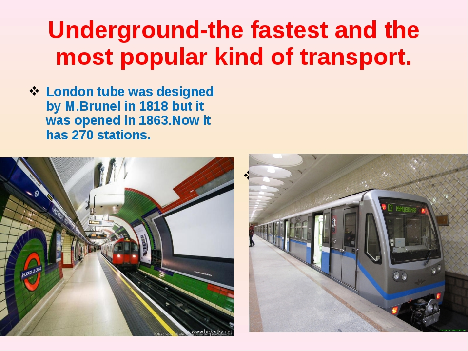 Underground-the fastest and the most popular kind of transport. London tube w...