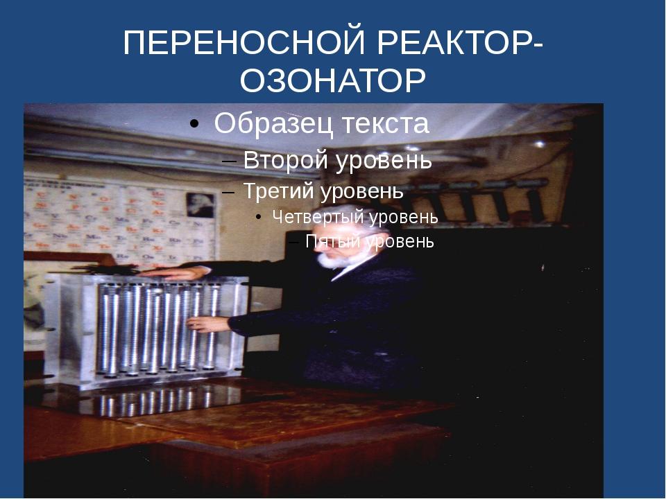 ПЕРЕНОСНОЙ РЕАКТОР-ОЗОНАТОР