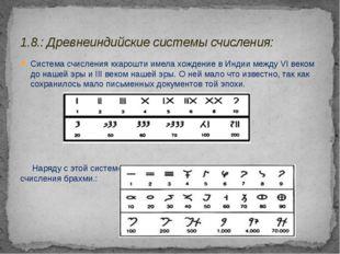 Система счисления кхарошти имела хождение в Индии между VIвеком до нашей эры