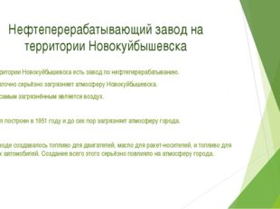 Нефтеперерабатывающий завод на территории Новокуйбышевска 1.На территории Нов