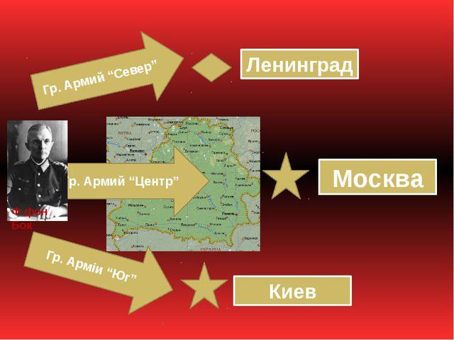 "Гр. Армий ""Север"" Гр. Армий ""Центр"" Гр. Арміи ""Юг"" Ленинград Москва Киев Ф.фо..."
