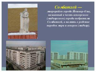 Сомбатхей— микрорайон города Йошкар-Олы, названный в честь венгерского (мадъ
