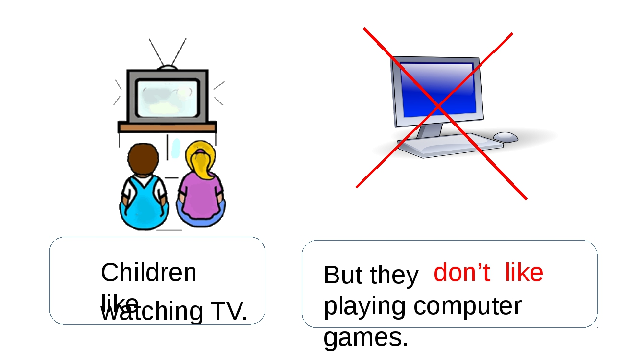 Children like watching TV. But they don't like playing computer games.