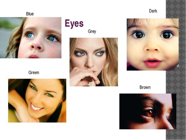 Eyes Blue Grey Brown Dark Green