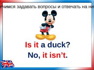 Is it a duck? No, it isn't. Учимся задавать вопросы и отвечать на них