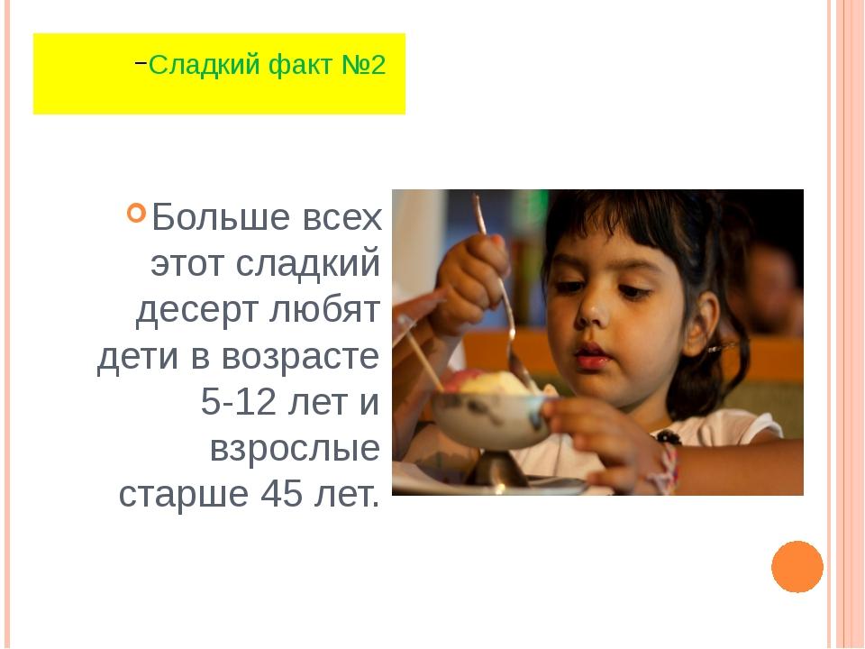 Больше всех этот сладкий десерт любят дети в возрасте 5-12 лет и взрослые ста...