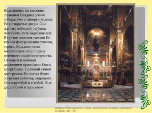 Поднявшись по высоким ступеням Владимирского собора, уже с паперти видишь Ее