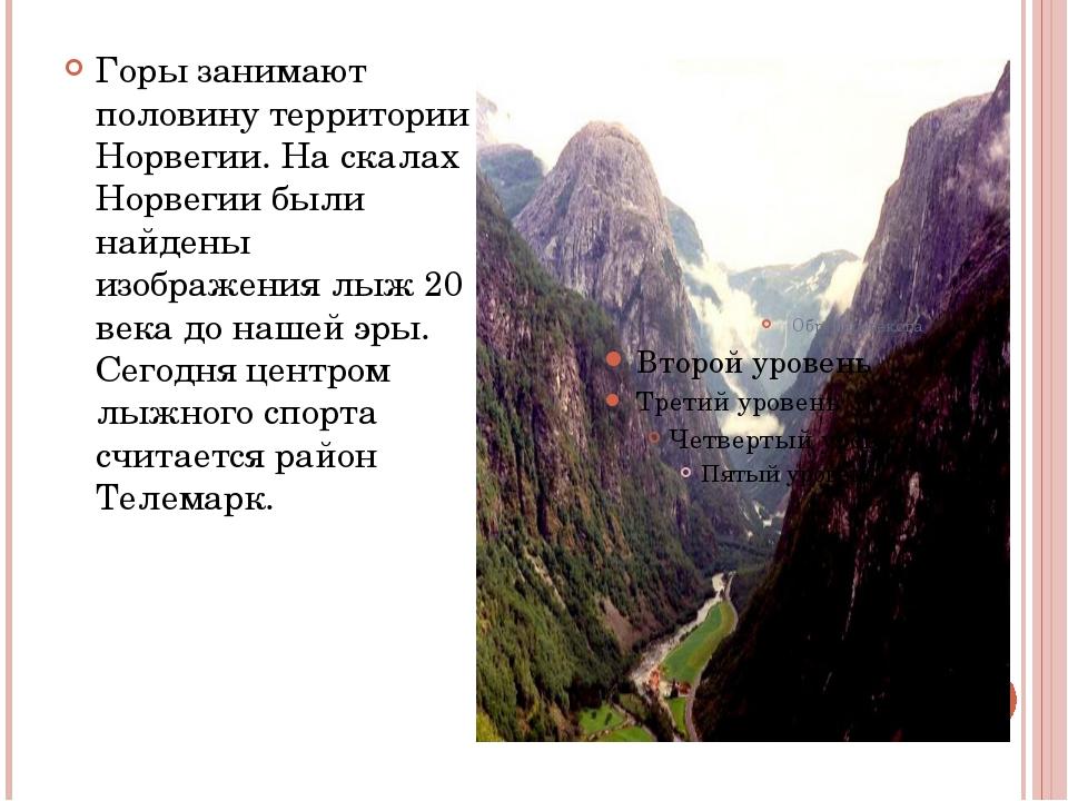 Горы занимают половину территории Норвегии. На скалах Норвегии были найдены...