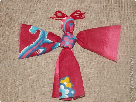Куклы Кукла народная Бабочка МК Ткань фото 1