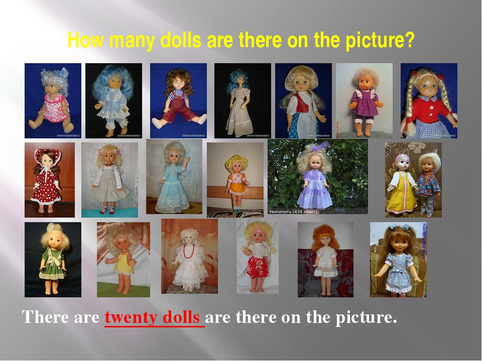 How many dolls are there on the picture? There are twenty dolls are there on...