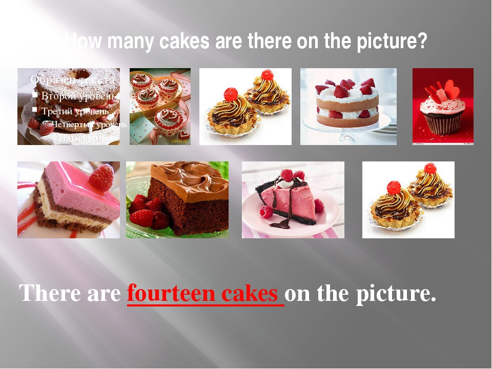 How many cakes are there on the picture? There are fourteen cakes on the pict...