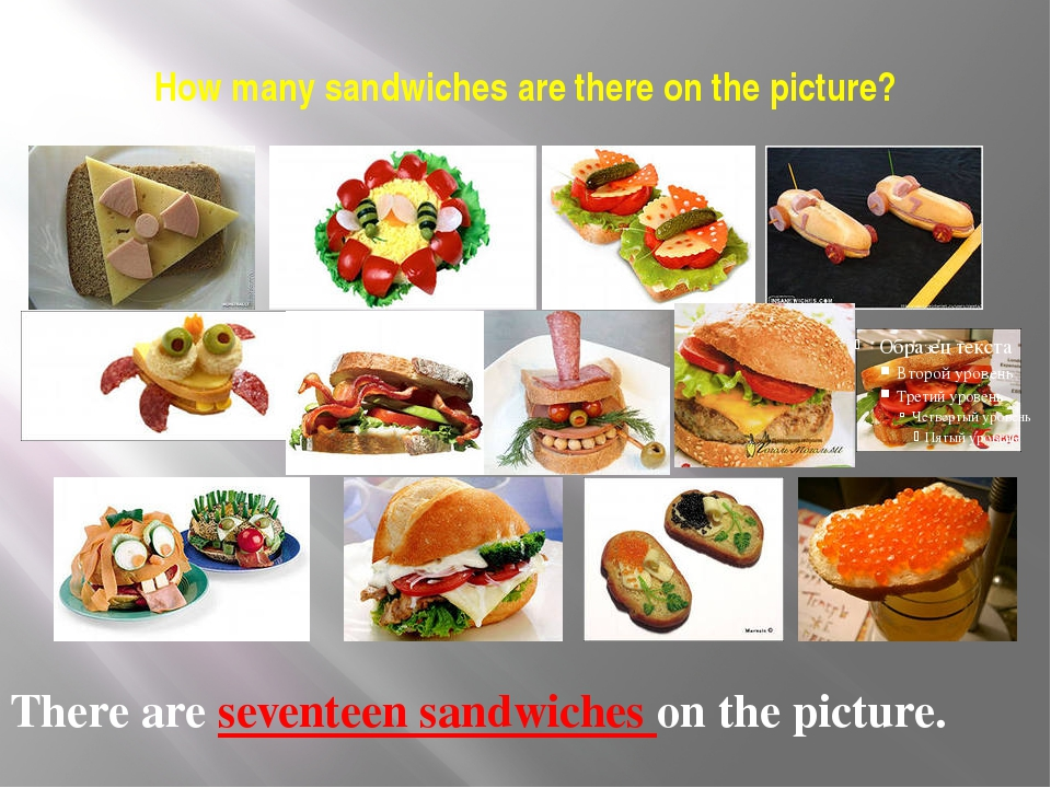 How many sandwiches are there on the picture? There are seventeen sandwiches...
