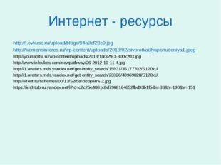 Интернет - ресурсы http://i.ovkuse.ru/upload/blogs/94a3ef28c9.jpg http://wome