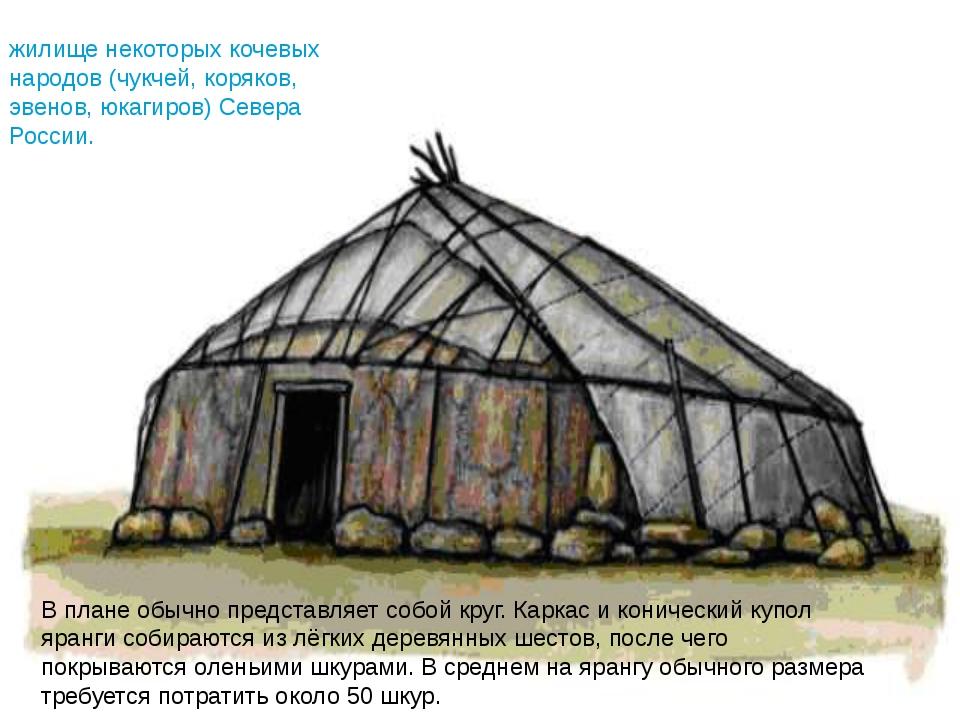 В плане обычно представляет собой круг. Каркас и конический купол яранги соби...