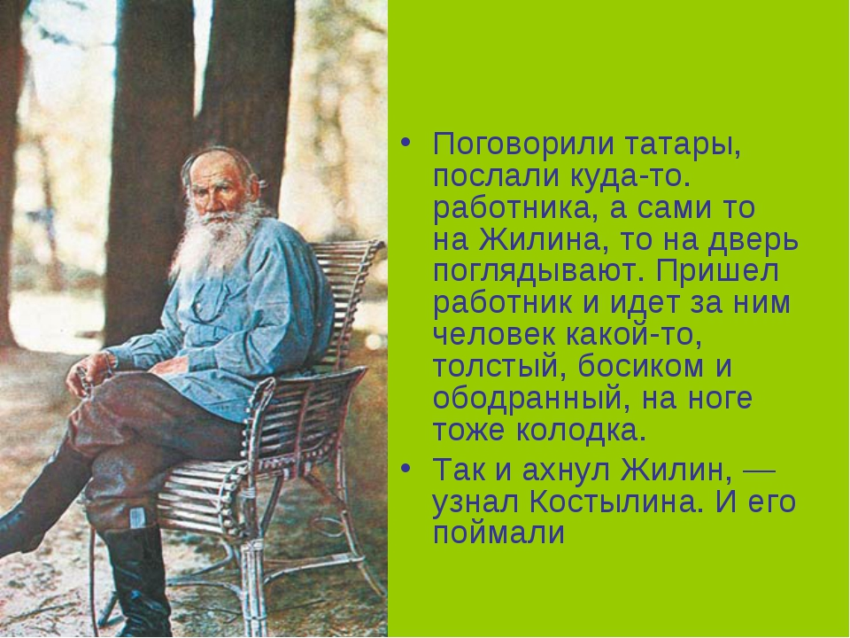 Поговорили татары, послали куда-то. работника, а сами то на Жилина, то на две...