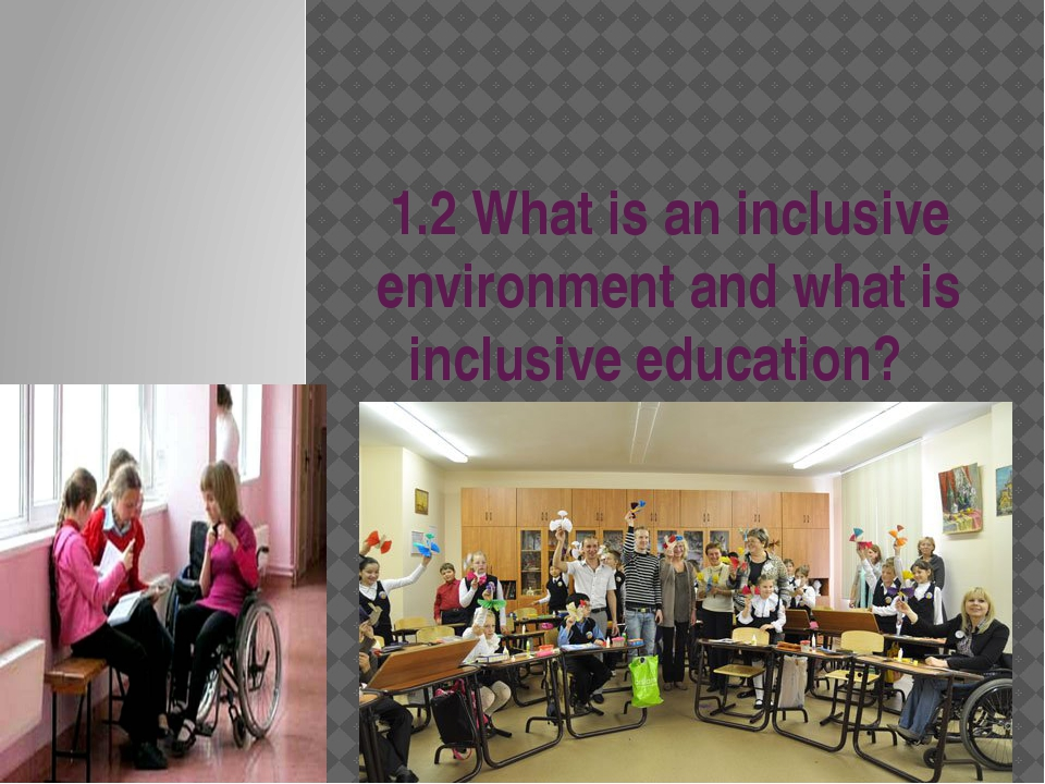 1.2 What is an inclusive environment and what is inclusive education?