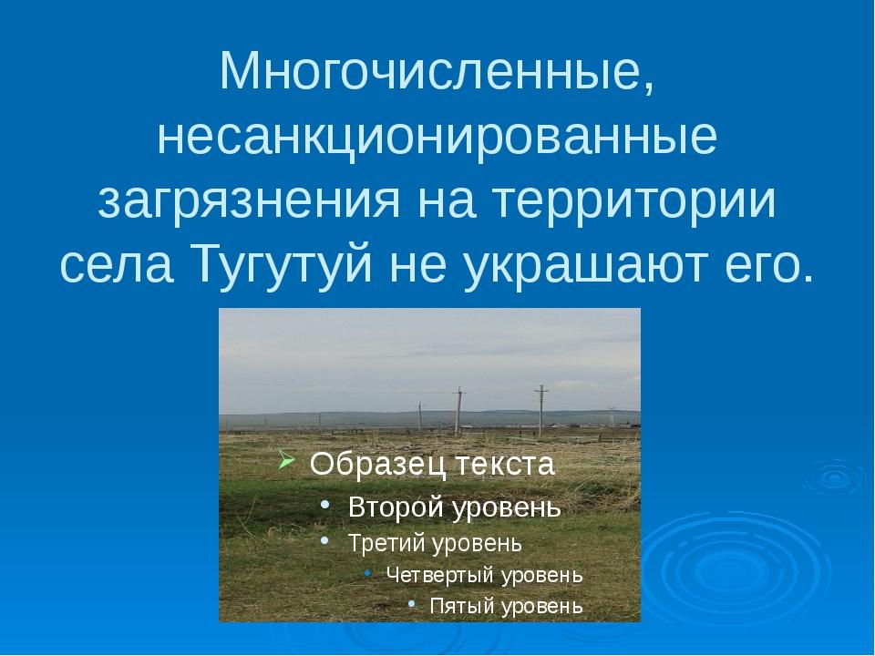 Многочисленные, несанкционированные загрязнения на территории села Тугутуй не...