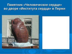 Памятник «Человеческое сердце» во дворе «Института сердца» в Перми Огромное с