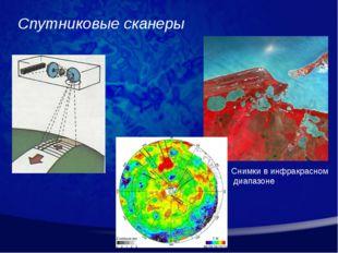 Спутниковые сканеры Снимки в инфракрасном диапазоне