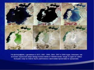 На фотографиях, сделанных в 1973, 1987, 1999, 2004, 2007 и 2009 годах, показа