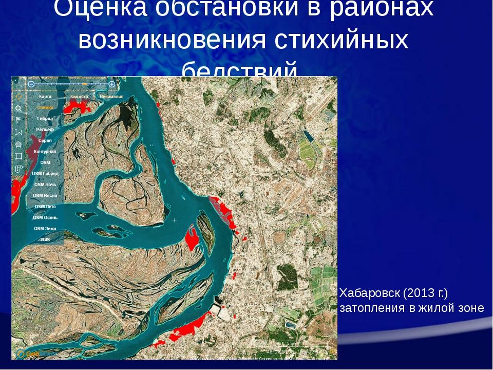 Оценка обстановки в районах возникновения стихийных бедствий Хабаровск (2013...