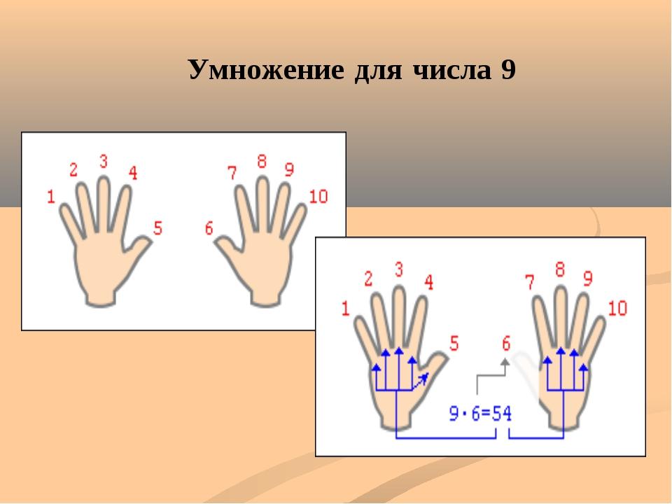 Умножение для числа 9
