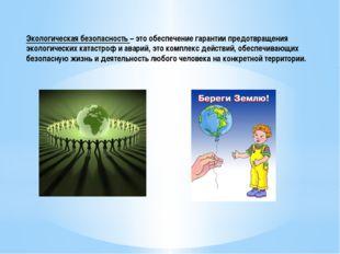Экологическая безопасность – это обеспечение гарантии предотвращения экологич