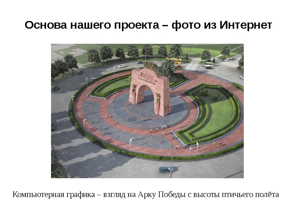 Основа нашего проекта – фото из Интернет Компьютерная графика – взгляд на Арк...