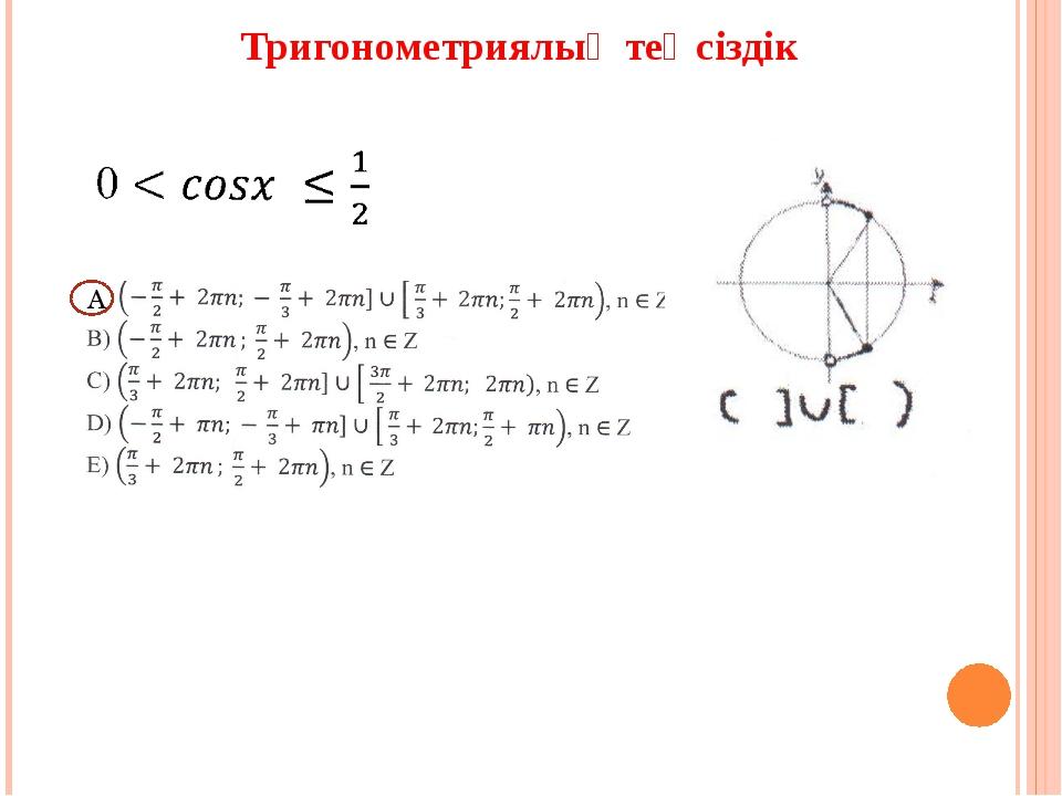 Тригонометриялық теңсіздік А