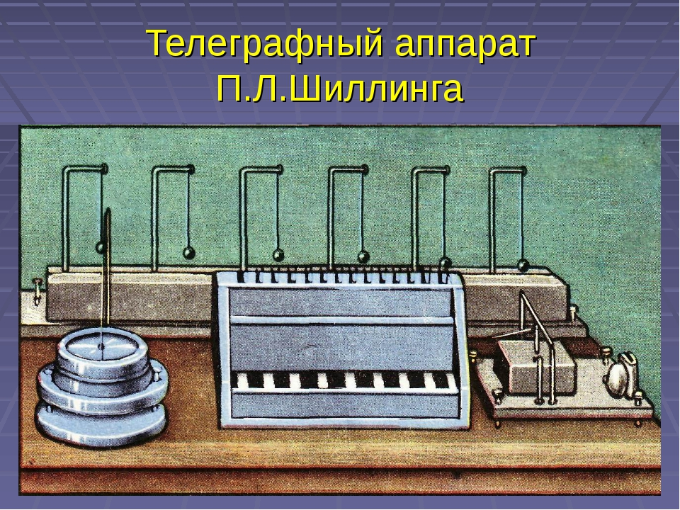 Телеграфный аппарат П.Л.Шиллинга